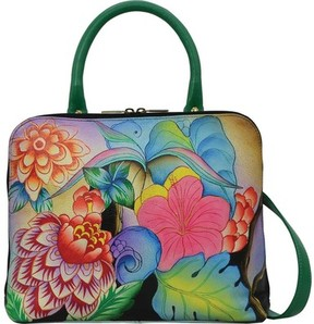 Anuschka Anna By ANNA by Hand Painted Slim Crossbody Satchel 8308 (Women's)