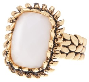 Ariella Collection Small Square Ring - Size 7