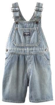 Carter's OshKosh B'gosh Baby Clothing Outfit Boys Hickory Stripe Denim Shortalls 3M