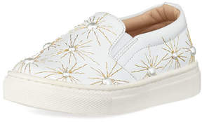 Aquazzura Cosmic Pearl Slip-On Sneaker, Infant