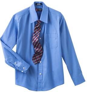 Chaps Boys 8-20 Button-Down Shirt and Tie Set