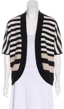 White + Warren Cashmere Striped Cardigan