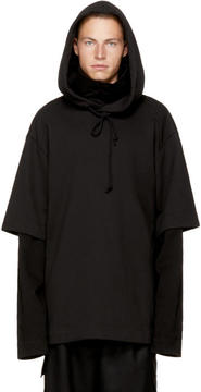 Juun.J Black Layered Archive Hoodie