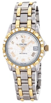 Concord 1021883 Saratoga SL 18K Yellow Gold Two-Tone Dress Quartz Date Womens Watch