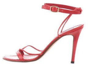 Ralph Lauren Collection Lizard Ankle-Strap Sandals