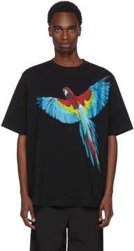Marcelo Burlon County of Milan Black Parrot T-Shirt