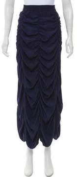 Calypso Ruched Midi Skirt