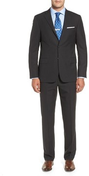 Hickey Freeman Men's Classic B Fit Check Wool Suit