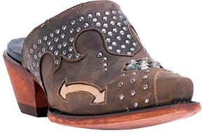 Dan Post Brown Makeup Leather Cowboy Bootie - Women