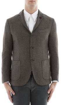 Lardini Men's Brown Wool Blazer.