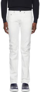 Brioni White Vens Skinny Jeans