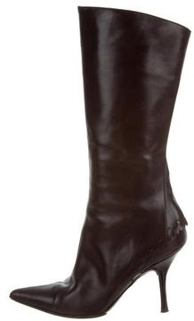 Moschino Leather Knee-High Boots