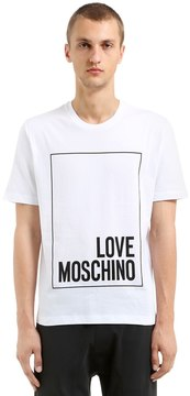 Love Moschino Printed Cotton Jersey T-Shirt
