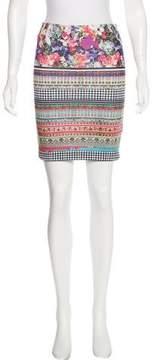 Clover Canyon Printed Bodycon Skirt