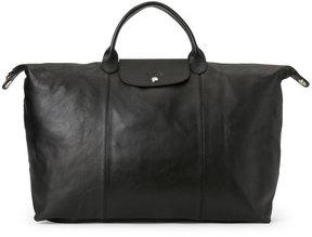 Longchamp Black Le Pliage Cuir Large Travel Bag - BLACK - STYLE