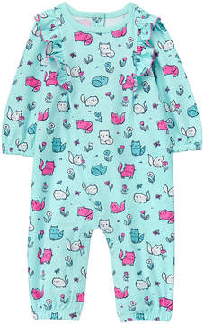 Gymboree Blue Cat Ruffle-Trim Bodysuit - Infant