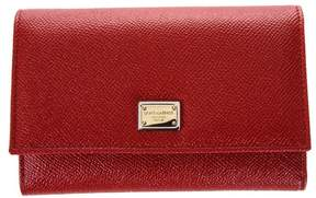 Dolce & Gabbana Leather Wallet With Logo Tag - RED - STYLE