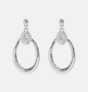Avenue Textured Oval Earrings