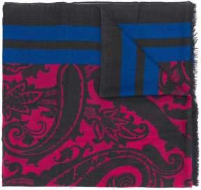 Etro paisley stripe print scarf