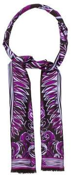 Emilio Pucci Abstract Printed Silk Scarf