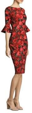 David Meister Floral Print Dress