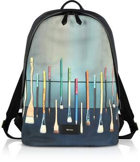 Paul Smith Canvas Brush Print Backpack