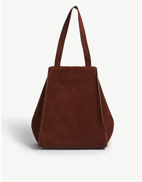 Max Mara Brown Anit Suede Tote Bag
