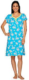 Carole Hochman Tropical Escape Cotton Jersey Sleepshirt