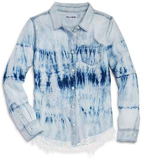 DL1961 Girls' Frayed Tie-Dye Shirt - Big Kid