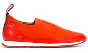 Vivienne Westwood Men's Red Leather Slip On Sneakers.
