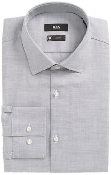 BOSS Men's Jenno Slim Fit Check Dress Shirt