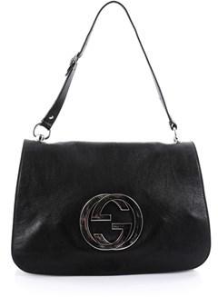 Gucci Pre-owned: Blondie Flap Shoulder Bag Leather Medium. - BLACK - STYLE