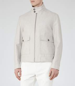 Reiss Sparta Cotton And Linen Jacket