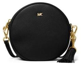 MICHAEL Michael Kors Tasseled Medium Leather Canteen Circle Bag