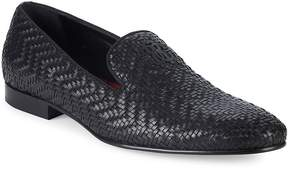 Roberto Cavalli Men's Night Woven Leather Loafers