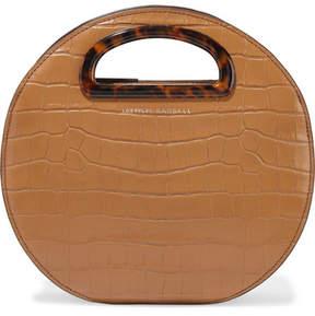 Loeffler Randall Indy Circle Croc-effect Leather Tote - Tan