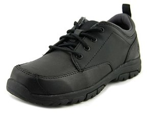 Timberland Discpass Plain Toe Youth Round Toe Leather Black Oxford.