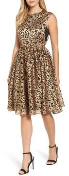Catherine Malandrino Women's Kells Metallic Fit & Flare Dress