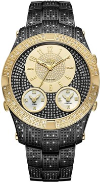JBW Men's Jet Setter III 1.18 ctw Diamond Black Ion-Plated Watch