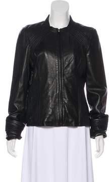 Tahari Lightweight Leather Jacket