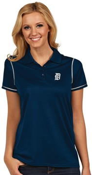 Antigua Women's Detroit Tigers Icon Desert-Dry Tonal-Striped Performance Polo