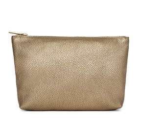 Cuyana Leather Zipper Pouch