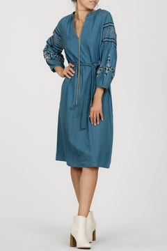 Ark & Co Embroidered Denim Dress