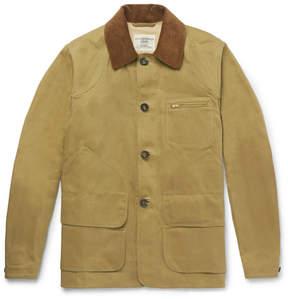 Kent & Curwen Kingsgate Corduroy-Trimmed Cotton-Twill Field Jacket