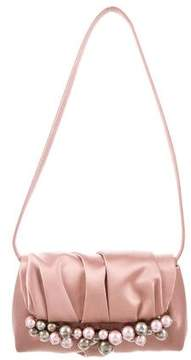 Giorgio Armani Embellished Satin Shoulder Bag