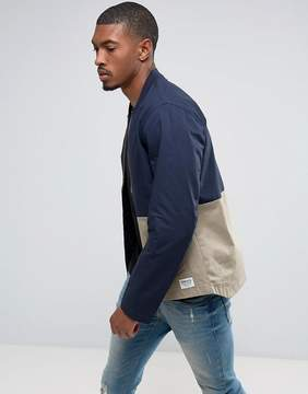 Tom Tailor Bomber Jacket With Open Hem And Color Panel Detail