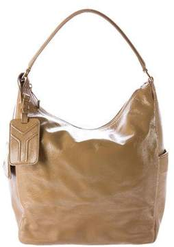 Saint Laurent Multy Patent Leather Handle Bag - BROWN - STYLE