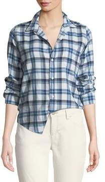 Frank And Eileen Barry Button-Front Check Cotton Shirt
