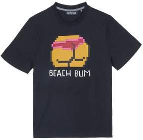 Mostly Heard Rarely Seen 'Beach Bum' rubber appliqué unisex T-shirt