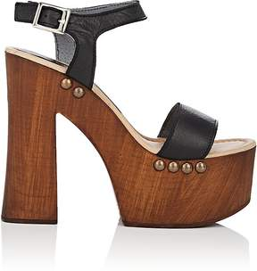 Barneys New York WOMEN'S LEATHER PLATFORM SANDALS